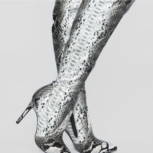 97b241044fc Women s Snakeskin Knee High Boots on Poshmark